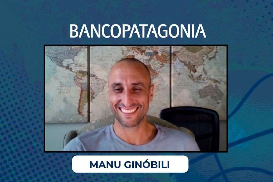 Manu Ginóbili. Nicolás Halac. Fan Day para Banco Patagonia.